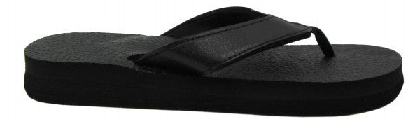 Amor Black Yoga Mat Flip Flops for Women - Leave An Impression