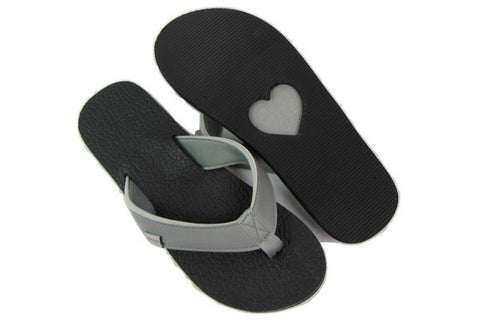 Amor Gray Yoga Mat Flip Flops Total View