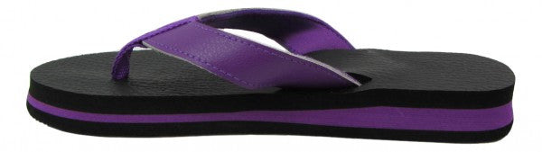 Amor Purple Yoga Mat Flip Flops for Women - Leave An Impression
