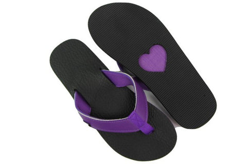 Amor Purple Yoga Mat Flip Flops Total View