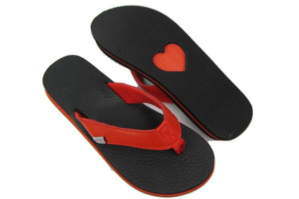 Amor Red Yoga Mat Flip Flops Total View