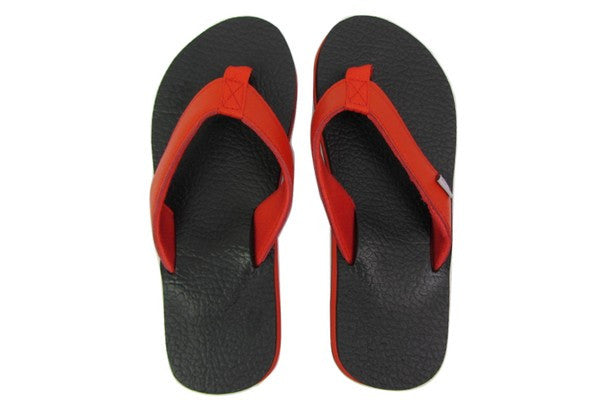 Amor Red Yoga Mat Flip Flops Top View
