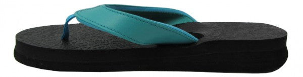 Amor Teal Yoga Mat Flip Flops for Women - Leave An Impression