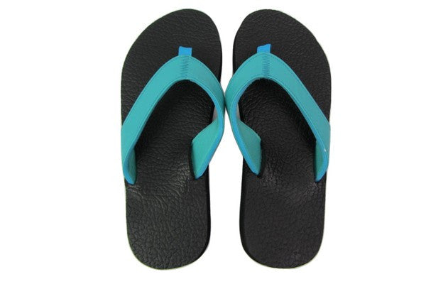 Amor Teal Yoga Mat Flip Flops Top View