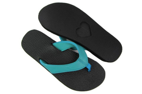 Amor Teal Yoga Mat Flip Flops Total View