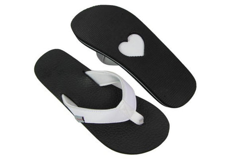 Amor White Yoga Mat Flip Flops Total View