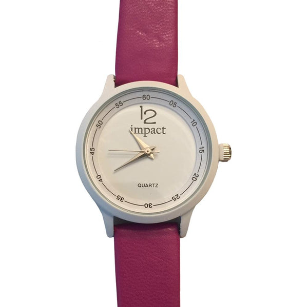 Women's Petite Leather Watch - By Impact Time Pieces