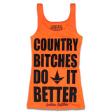 Country Bitches Do It Better Tank Top Orange