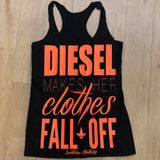 AB Diesel Makes Her Clothes Fall Off Tank (Blaze Orange)