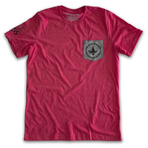 AB Luckless Team Pocket Tee (Red)-Luckless Outfitters Country Music Lifestyle Clothing And Apparel