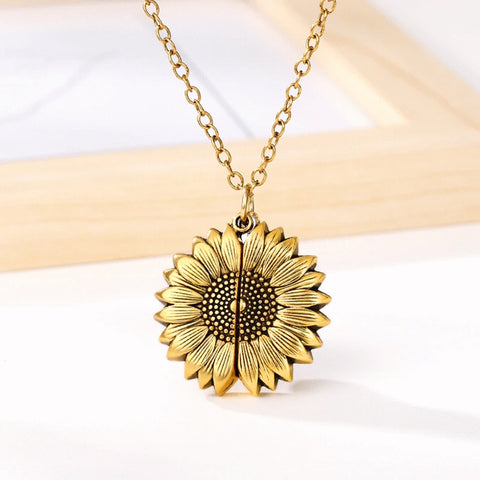 AE Sunflower You Are My Sunshine Necklace