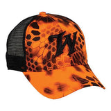 Kryptek® Inferno™/ Winchester Black Mesh Hat - Luckless Outfitters - Country - Apparel - Music - Clothing - Redneck - Girl - Women - www.lucklessclothing.com - Matt - Ford Parody - Concert - She Wants the D - Lets Get Dirty - Mud Run - Mudding -