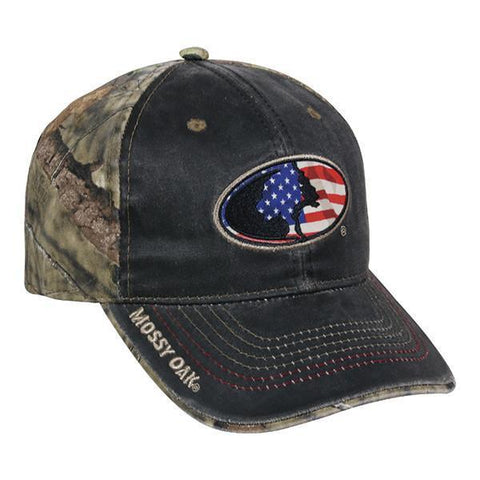 Mossy Oak® Break-Up Country® USA & Camo Hat - Luckless Outfitters - Country - Apparel - Music - Clothing - Redneck - Girl - Women - www.lucklessclothing.com - Matt - Ford Parody - Concert - She Wants the D - Lets Get Dirty - Mud Run - Mudding -
