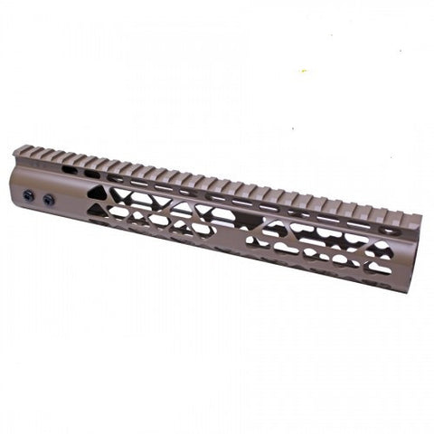 "10"" AIR LITE KEYMOD FREE FLOATING HANDGUARD WITH MONOLITHIC TOP RAIL (FLAT DARK EARTH) - Tactical Equipment Armory"