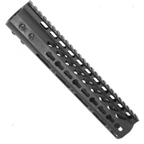 "10"" ULTRA LIGHTWEIGHT THIN KEY MOD FREE FLOATING HANDGUARD WITH MONOLITHIC TOP RAIL/Tactical Equipment Armory"