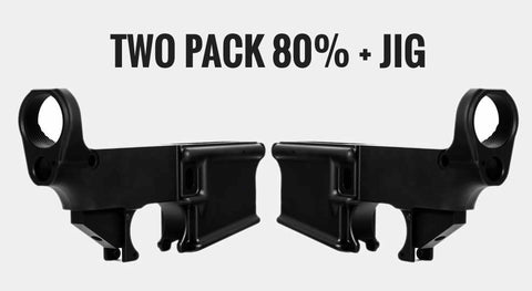 80%AR15 Lower Receiver (2) and Jig Kit/Tactical Equipment Armory