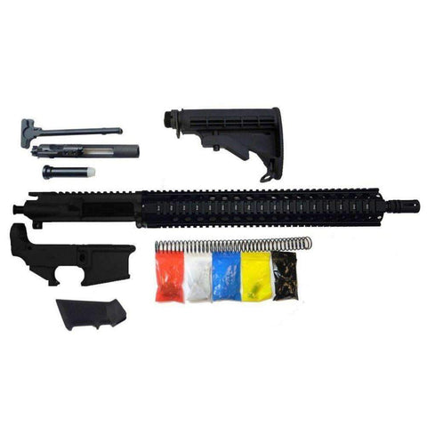 ".300 Blackout Rifle Kit, 16"" Phosphate Barrel, 15"" Quad Rail with 80% Lower Receiver/Tactical Equipment Armory"