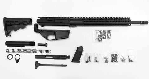 ".308 Complete Rifle Kit, 20"" Barrel and 15"" Keymod Rail with 80% Lower Receiver/Tactical Equipment Armory"