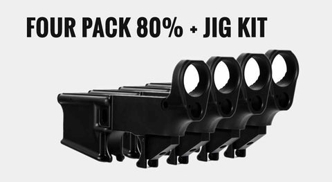 AR15 80% Lower Receivers 4 Pack ad  Jig Kit//Tactical Equipment Armory