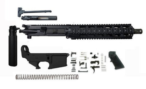 "AR15 300 Blackout Pistol Kit 10.5"" Barrel and 10"" Rail Complete Assembled with 80% Lower Receiver/Tactical Equipment Armory"