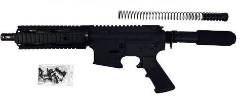 "AR15 300 Blackout Pistol Kit 7.5"" Barrel and 7"" Rail Complete -Assembled with 80% Lower Receiver/Tactical Equipment Armory"