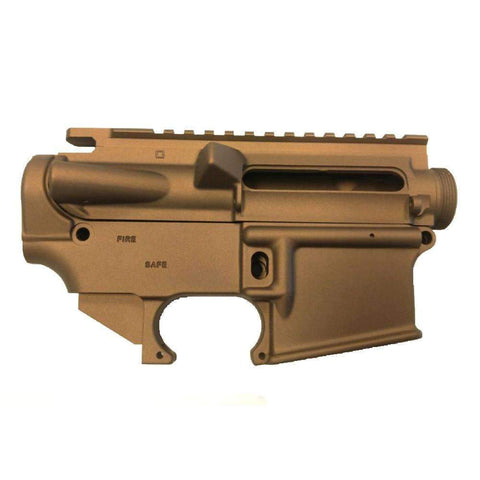 AR15 Upper Receiver and 80% Lower Receiver Set Bronze Cerakote/Flat Dark Earth