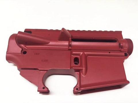 AR15 Upper Receiver and 80% Lower Receiver Set Red Cerakote/Tactical Equipment Armory