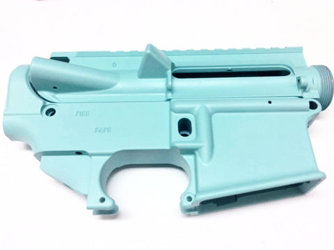 80% Lower Receiver AR15 and Upper Receiver Tiffany Blue Cerakote/Tactical Equipment Armory