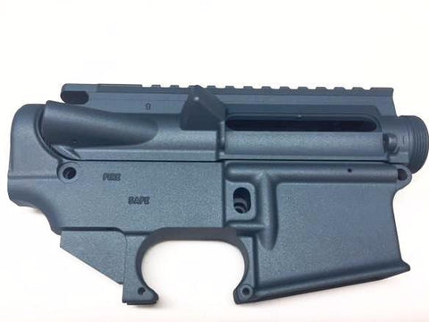 AR15 Upper Receiver and 80% Lower Receiver Titanium Blue Cerakote/Tactical Equipment Armory