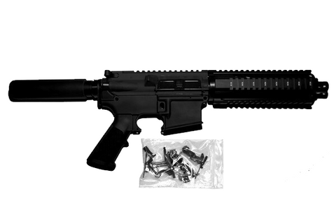 AR15 Pistol Kit complete with 80% Lower Receiver/Tactical Equipment Armory