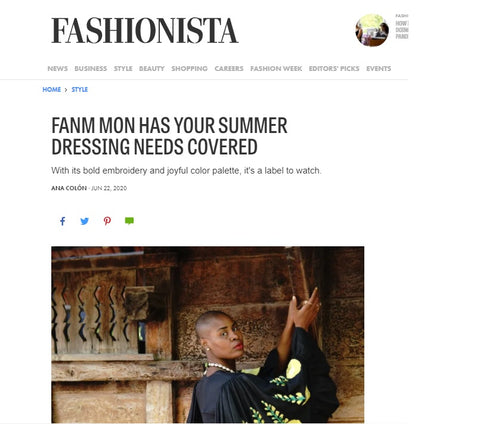 FASHIONISTA SUMMER 2020 ARTICLE