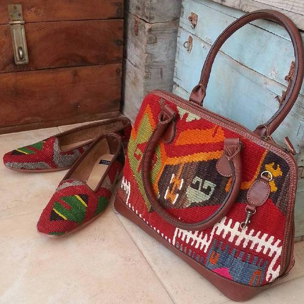 Copy of Sz EU 41 US 10.5 Women kilim shoes, leather, flats, slippers, oxfords, nomads, handwoven, maryjanes, ballerina flats, footwear