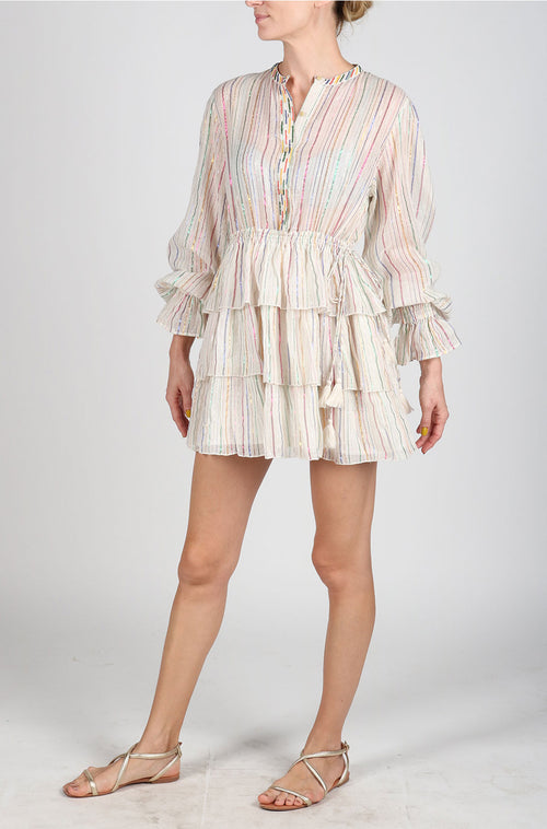 Cream Mini Linen Dress