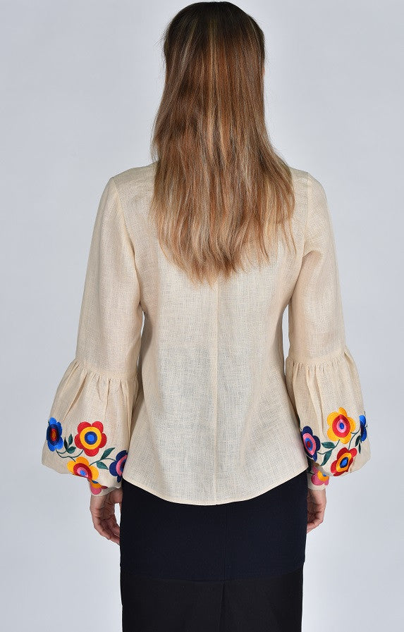Fanm Mon Collection ORA Vyshyvanka Top Floral Emboidery Blouse