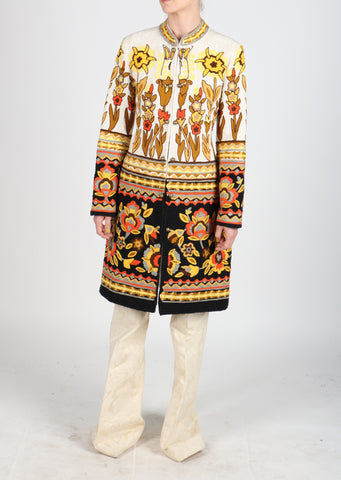 Fanm Mon Vyshyvanka Khaki Cotton Jacket ARI Embroidered MULTI COLOR Geometric Jacket