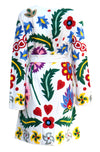 Fanm Mon Vyshyvanka Cream Linen Jacket HAND Embroidered MULTI COLOR Floral