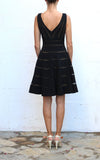 JS COLLECTION Black Tiered Evening Dress Size 4