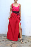 KAUFMAN FRANCO Red Mini Evening Dress Size 40