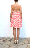 KATY RODRIGUEZ Pink Cream Polka Dot Evening Dress Size 6