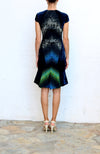 Peter Pilotto ALANA B Black Multi Color Rainbow Evening Dress Size 6