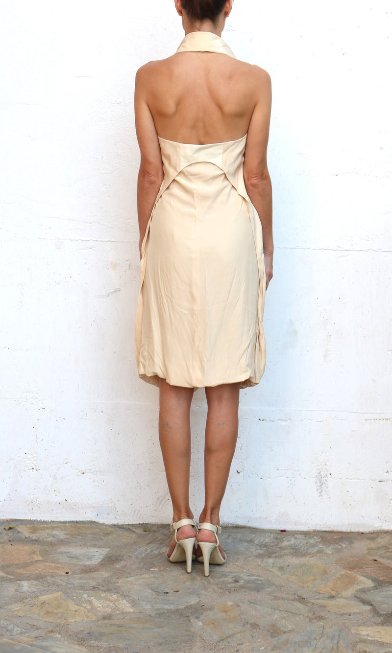 HUSSEIN CHALAYAN Golden Ivory Evening Dress Size 44