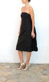 ISAAC MIZRAHI Black Strapless Tuxedo Evening Dress Size 4