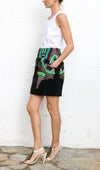 MANISH ARORA Black Green Red Big Pockets Mini Skirt Size S