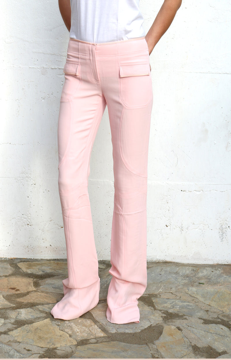 TULEH Pink Evening Pants Size