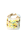 Fanm Mon Ambroise Yellow Red Embroidered Linen handbag