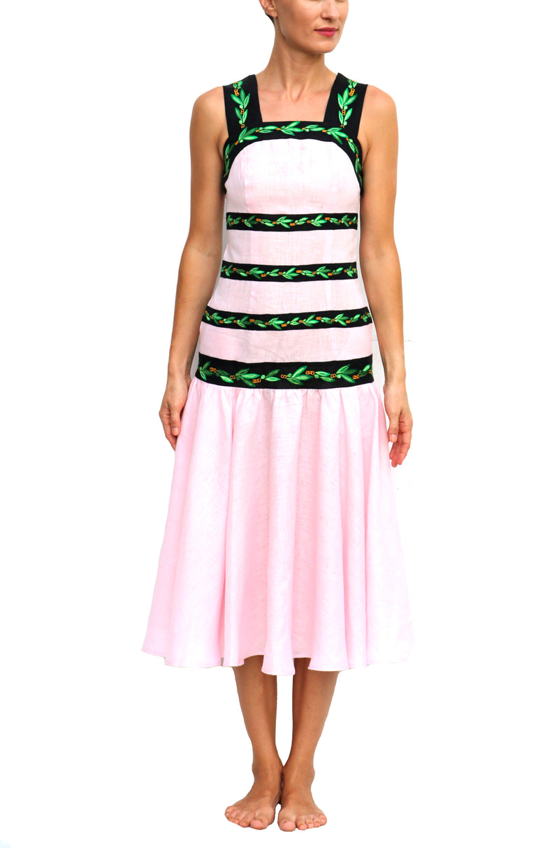 Pink and Green Dress