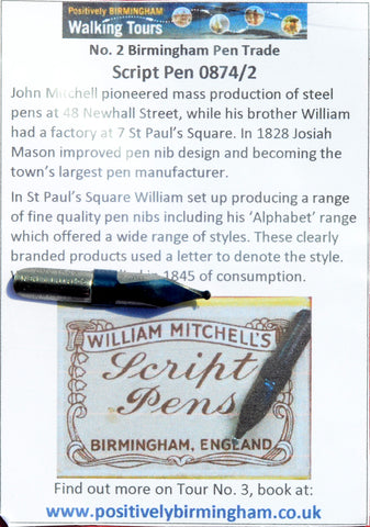 No. 2 - William Mitchell Script - Dip Pen Nib