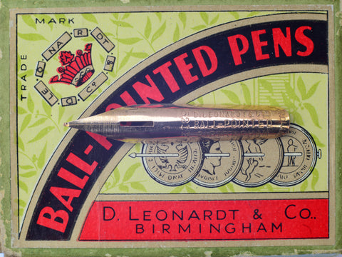 No. 4 - D. Leonardt & Co. Ball-Pointed Pen - Dip Pen Nib - Gilt
