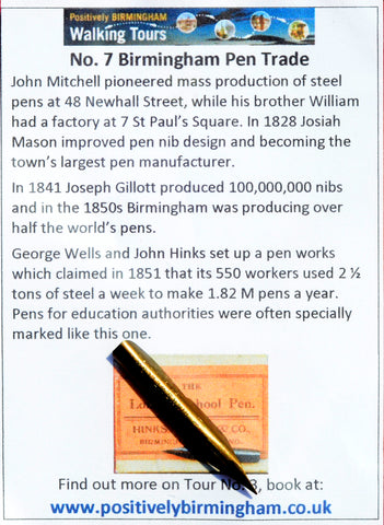 No. 7 - Hinks, Wells & Co.  London School Pen No. 182 M
