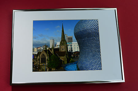 Positively Birmingham Prints; St Martin's and Selfridges;  A4 Print in A3 frame